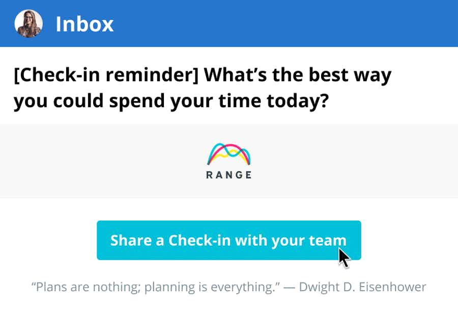 Start your day with a Check-in
